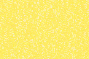 Seed Dots Fabric - Yellow. From the Sunny Bee Collection by Makower. White Dots on a Yellow Background.