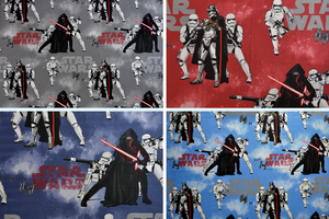 Star Wars - Storm Troopers.  Blue, Light Blue, Grey or Red