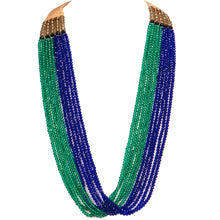 Ten String Twirl Necklace 0504 Blue