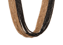 Ten String Twirl Necklace 1009 Gray