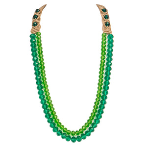Two String Graded Necklace 0403 Turquoise Green