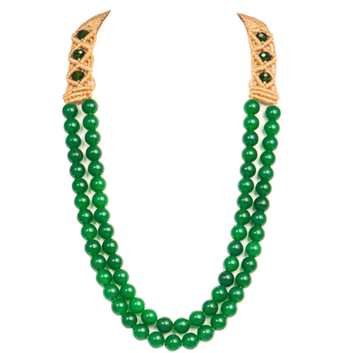 Two String Jaded Necklace 0303 Green