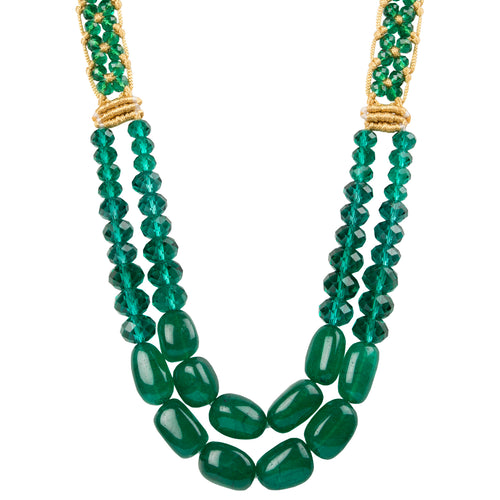 Two String Regal Necklace 03 Green