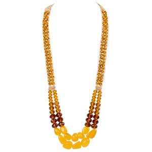 Two String Regal Necklace 02 Yellow