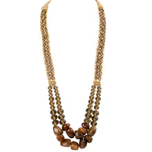 Two String Regal Necklace 02 Brown