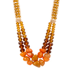 Two String Regal Necklace 02 Orange