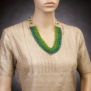 Four String Donna Necklace 03 Green