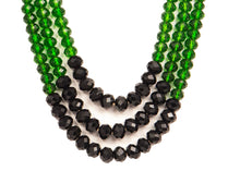 Three String Vivid Necklace 03 Green