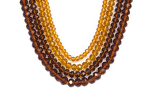 Four String Donna Necklace 02 Amber
