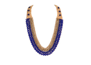 Four String Donna Necklace 05 Blue