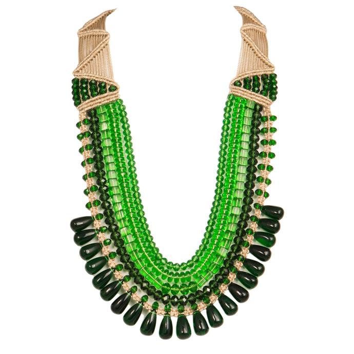 Five String Diva Necklace Green