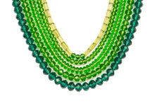 Five String Festive Necklace 03 Green