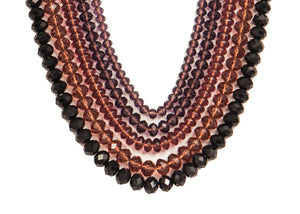 Five String Festive Necklace 07 Burgundi