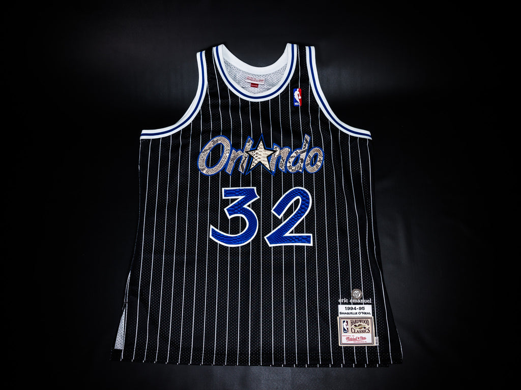 check out 35a1f 5d457 MITCHELL & NESS x ERIC EMANUEL AUTHENTIC BLACK ORLANDO MAGIC ...