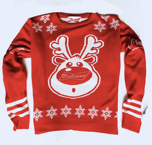 Custom Christmas Sweater for Budweiser