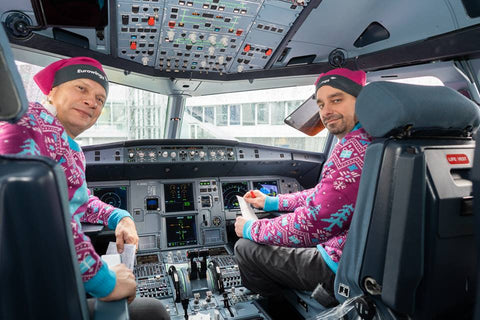Image of pilots in Eurowings sweaters