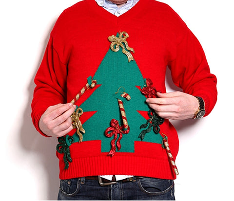 Image of an Ugly Sweater with a space for lights