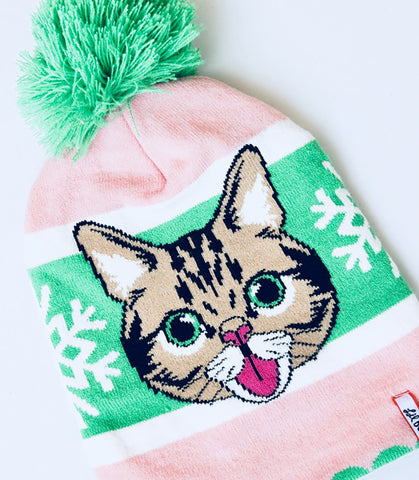 Image of wholesale custom beanie (cat)
