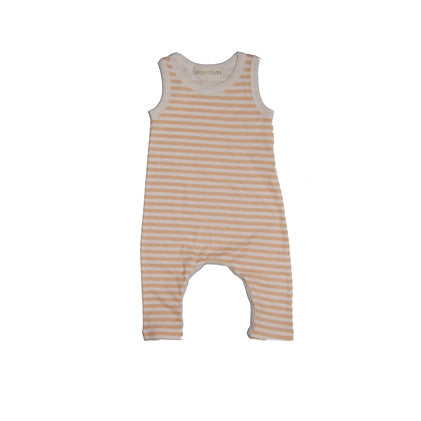 Creamsicle Strip Sleeveless Long Romper (Sizes 0-12M)
