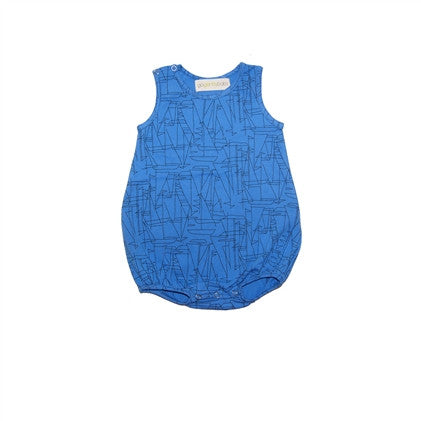 Sailboat Sleeveless Jersey Tank Onesie