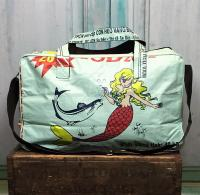 Mermaid and Elephant Overnight Bags - Recycled Cement Bags