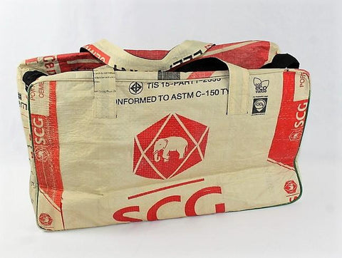 Elephant Overnight Bag - Recycled Cement Bag