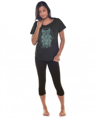 Starlight Owl Eco Slouch T-Shirt