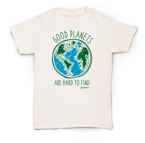 """Good Planets Are Hard To Find"" Hemp Men's T-Shirt"