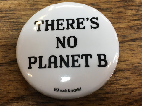 No Planet B Slogan Button