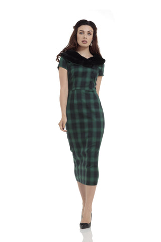 Rachel Dress (Green Tartan)