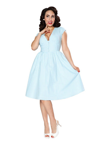 Golly Miss Dolly Dress (Blue Gingham)