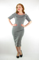 Gracie Dress (Black Gingham)