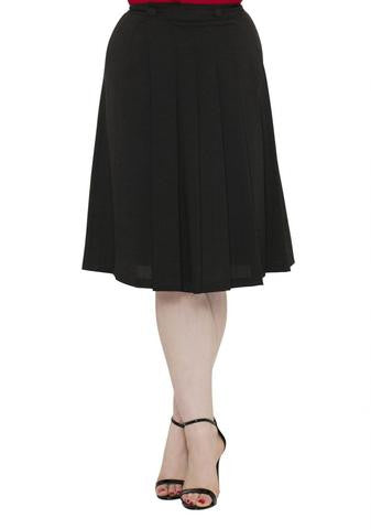 Deborah Basic Aline Skirt (Black)
