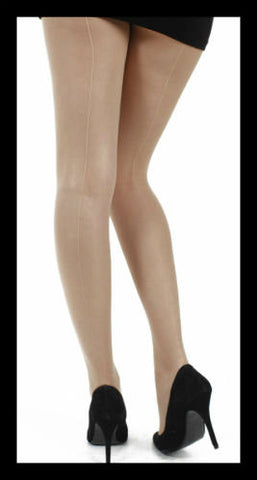 Seamed Tights (Nude)