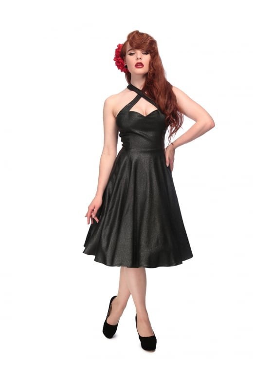 Penny Vegas Flared Dress (Black)