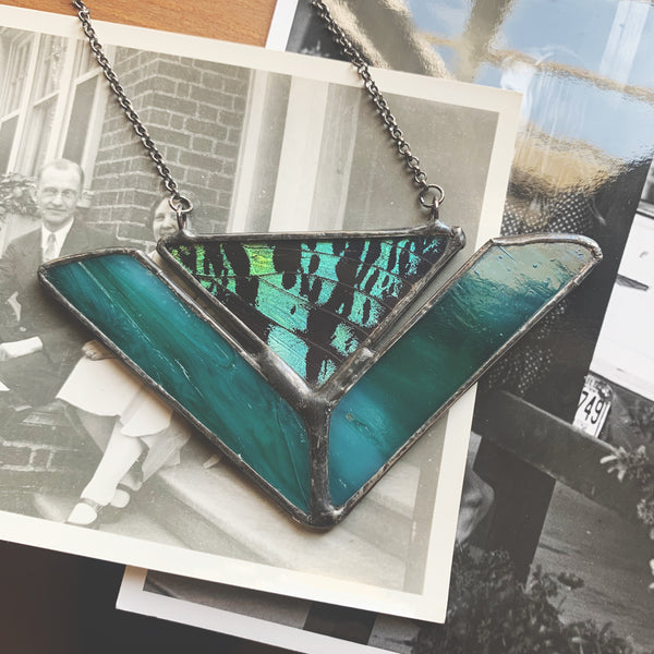 Sea Green Glass + Sunset Moth Chevron