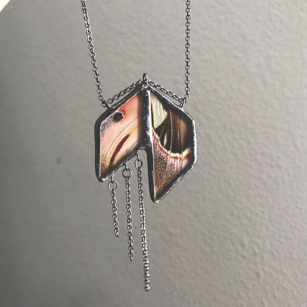 Atlas Moth Art Deco Statement Necklace