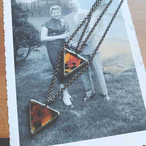 Sunset Moth Layering Necklaces