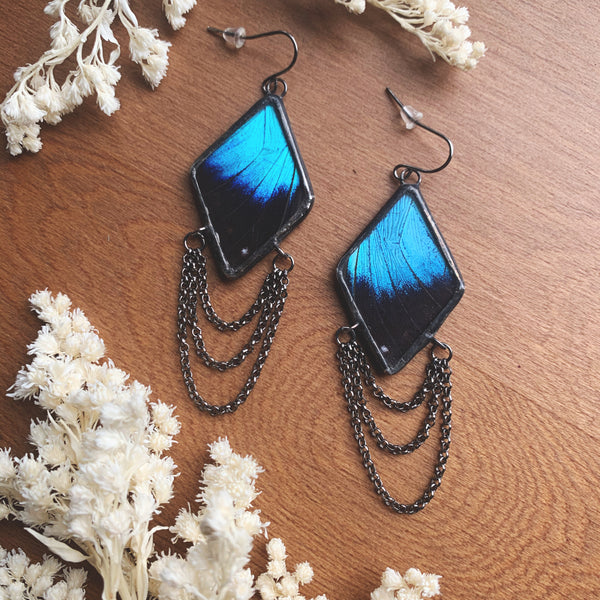 Morpho Achilles Dripping Diamond Earrings