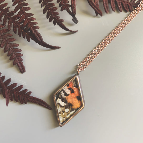 Rose Copper Painted Lady Mini Diamond