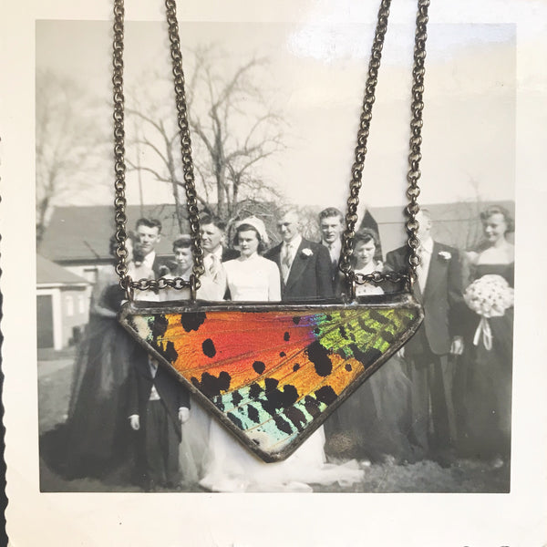 Sunset Moth Large Double Chained Triangle