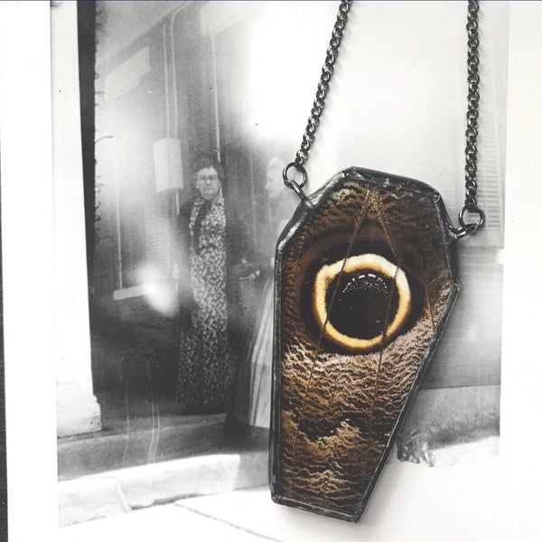 Illuminati Owl Eye Coffin Pendant