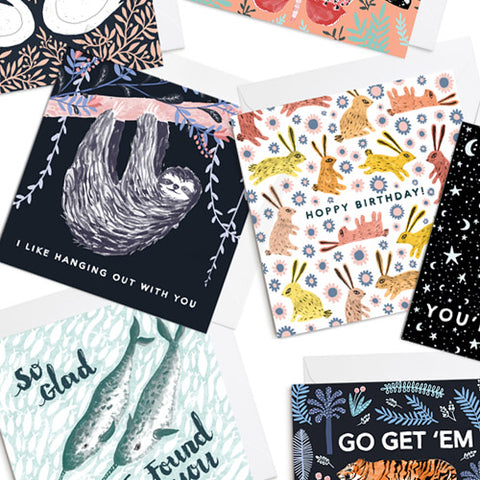 A selection of Papio Press greetings cards.