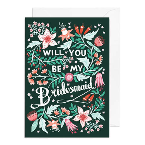 Will You Be My Bridesmaid Greetings Card - Papio Press