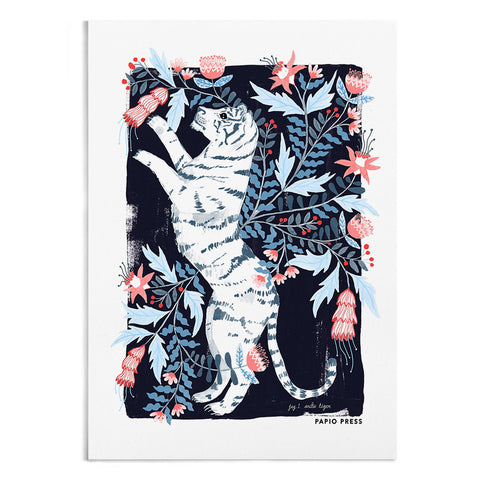 Floral Tiger - A4 / A3 Artists Print - Papio Press