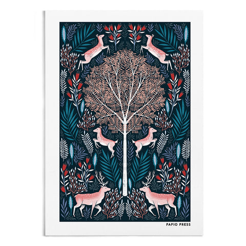Folk Deer - A4 / A3 Artists Print - Papio Press