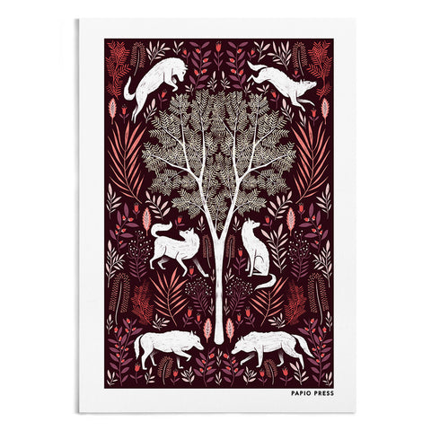 Folk Wolves - A4 / A3 Artists Print - Papio Press