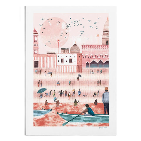 Ganges River - A4 / A3 Artists Print