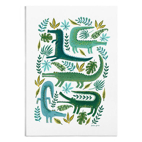 Crocodile Garden - A4 / A3 Artists Print