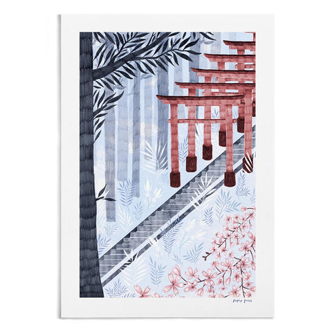 Fushimi Inari Shrine, Kyoto - A4 / A3 Artists Print